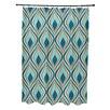 E By Design Animal Magnatism Geometric Shower Curtain