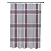 E By Design Flower Power Plaid Shower Curtain