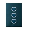 E By Design Decorative Geometric Teal Area Rug