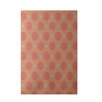 E By Design Decorative Geometric Coral/Aqua Area Rug
