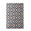 E By Design Decorative Geometric Navy Blue/Brown Area Rug