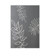 E By Design Decorative Floral Gray/Ivory Area Rug
