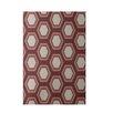 E By Design Decorative Geometric Rust/Taupe Area Rug