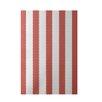 E By Design Decorative Stripe Coral Area Rug