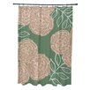 E By Design Flower Power Shower Curtain