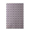 E By Design Decorative Geometric Purple Area Rug