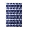 E By Design Decorative Geometric Royal Blue Area Rug