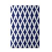 E By Design Decorative Geometric Blue Area Rug