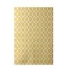 E By Design Decorative Geometric Yellow Area Rug