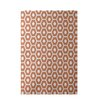 E By Design Decorative Geometric Orange Area Rug