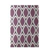 E By Design Decorative Geometric Purple Area Rug