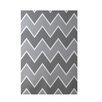 E By Design Decorative Chevron Gray Area Rug