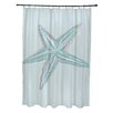 E By Design Coastal Calm Shower Curtain