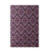 E By Design Decorative Purple/Pink Area Rug