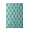 E By Design Decorative Geometric Light Blue/Aqua Area Rug