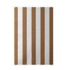 E By Design Decorative Stripe Brown Area Rug