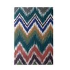 E By Design Decorative Chevron Teal/Brown Area Rug