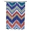 E By Design I-Kat U-Dog Stripes Shower Curtain