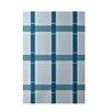 E By Design Decorative Plaid Light Blue/Teal Area Rug