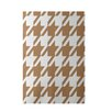 E By Design Decorative Geometric Brown Area Rug
