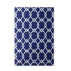 E By Design Decorative Geometric Royal Blue Area Rug