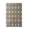 E By Design Decorative Geometric Beige/Cardinal Red Area Rug