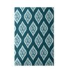 E By Design Decorative Floral Teal/Aqua Area Rug