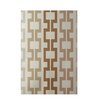 E By Design Decorative Geometric Off White/Brown Area Rug