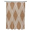E By Design I-Kat U-Dog Geometric Shower Curtain