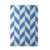 E By Design Decorative Geometric Blue Area Rug