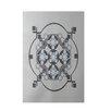 E By Design Decorative Light Gray/Dark Gray Area Rug