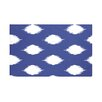 E By Design Ikat Dot Geometric Print Polyester Fleece Throw Blanket