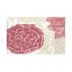 E By Design Flowers and Fronds Floral Print Polyester Fleece Throw Blanket