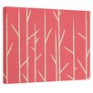 E By Design Floral Painting Print on Wrapped Canvas in Coral