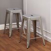 "<strong>TMS</strong> 24"" Avalon Metal Stackable Stool (Set of 2)"