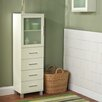 TMS Frosted Pane 4 Drawer Linen Cabinet
