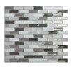 Smart Tiles Mosaik Self Adhesive High-Gloss Mosaic in Gray and Black (Set of 6)