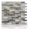 Smart Tiles Mosaik Self Adhesive High-Gloss Mosaic in Beige and Gray