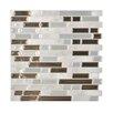 Smart Tiles Mosaik Self Adhesive High-Gloss Mosaic in Gray & Brown