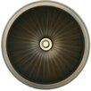Linkasink Bronze Small Round Fluted Bathroom Sink