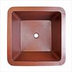 "Linkasink 13"" x 13"" Small Square Bar Sink"