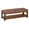 <strong>Reual James</strong> Et Cetera Leather Bedroom Bench