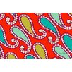 Thumbprintz Paisley Red Area Rug