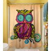 Thumbprintz Owl Branch Gregir Shower Curtain