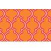 Thumbprintz Ogee Orange Dots Area Rug
