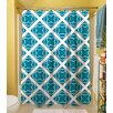 <strong>Thumbprintz</strong> Modern Geometric Topaz Shower Curtain