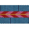 Thumbprintz Aztec Blue/Pink Chevron Area Rug