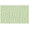 Thumbprintz Greek Key II Mint Geometric Area Rug
