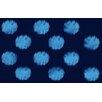 Thumbprintz Big Dots Navy Area Rug