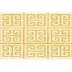Thumbprintz Greek Key II Yellow Geometric Area Rug